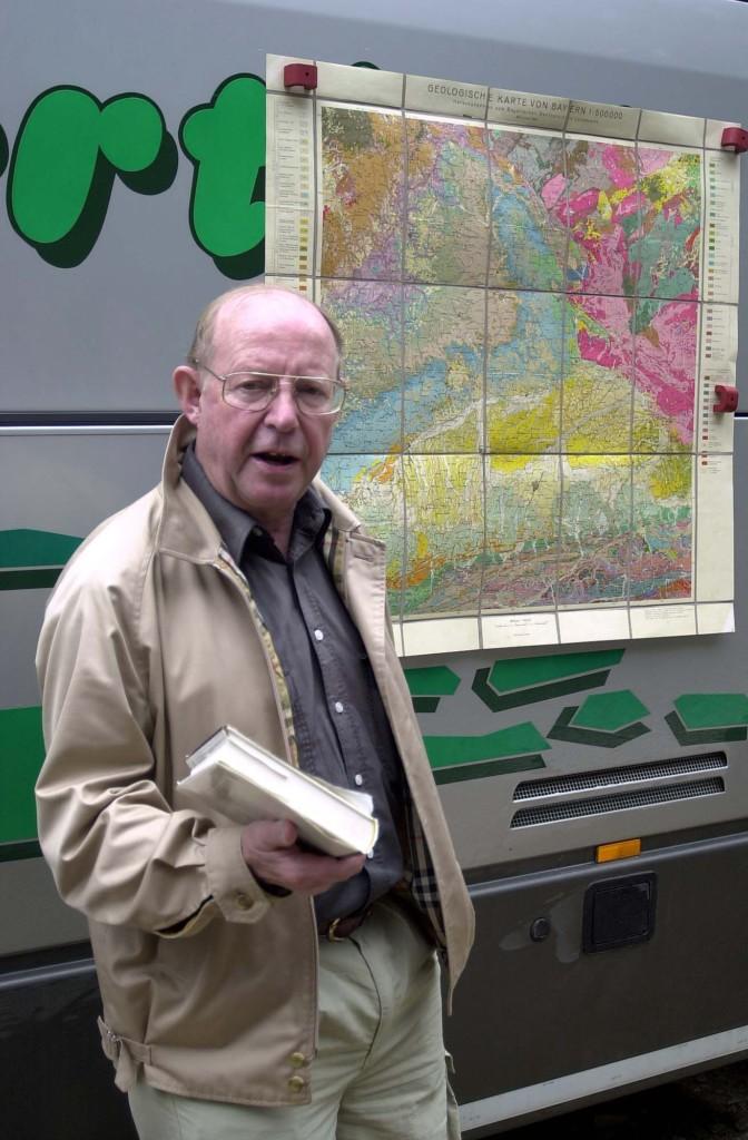 Dr. Kay Uwe Schürmann auf einer Exkursion des Freundeskreises