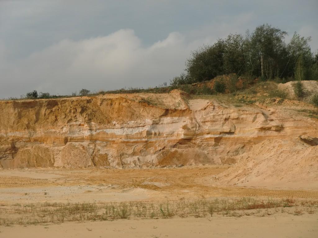 bunte Schichten, wie damals in der Wüste vor 25 Millionen Jahren